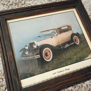 Framed Vintage 1929 Graham-Paige Car